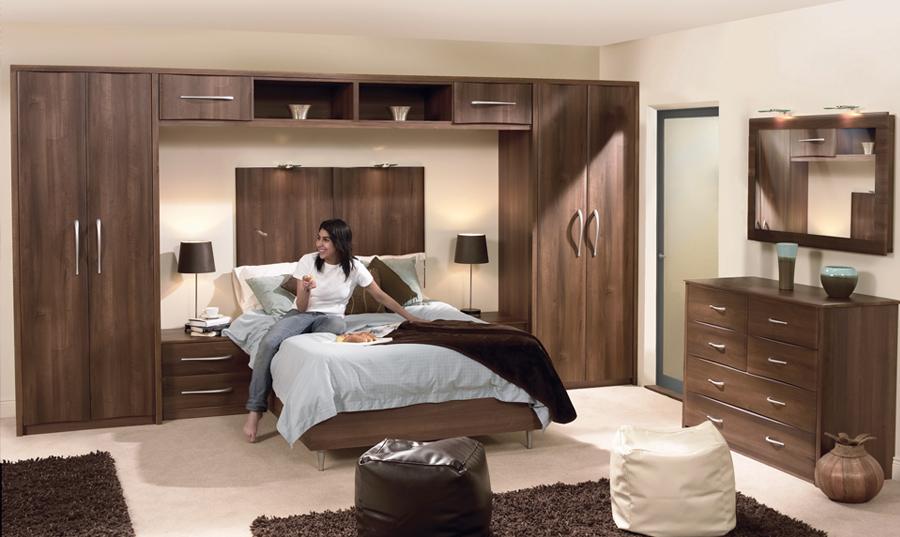 Dark Walnut Fitted Bedroom Wigan