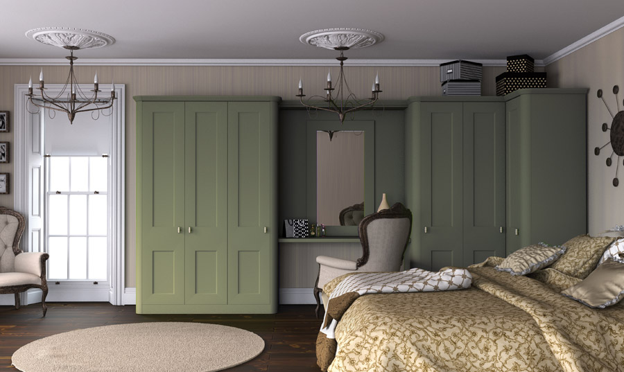 Painted Green Fitted Bedrooms Wigan
