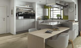 Remo Dove Grey Handleless Bespoke Fitted Kitchens Wigan