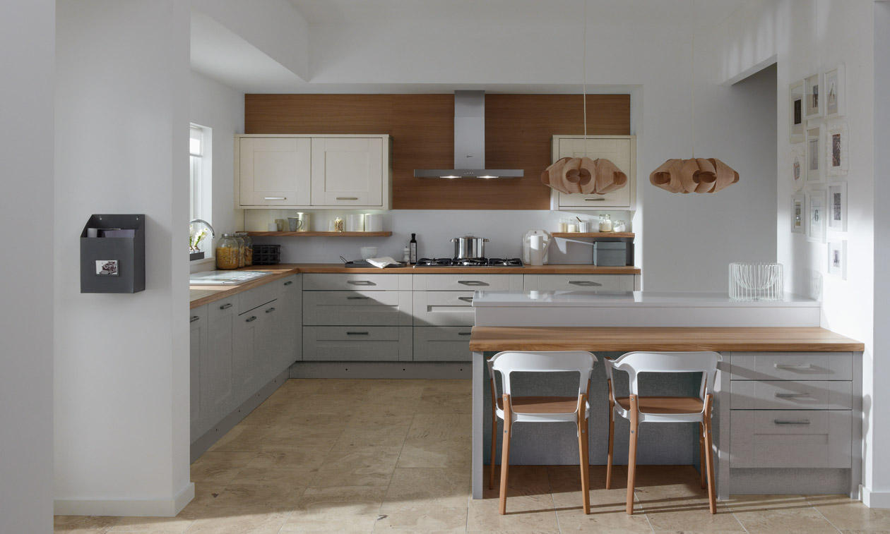 Milbourne painted bespoke fitted kitchens wigan for Fitted kitchens
