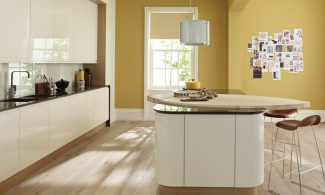 Remo Alabaster Handleless Bespoke Fitted Kitchens Wigan