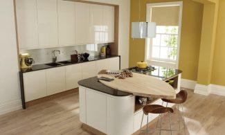 Remo Alabaster Handleless Bespoke Fitted Kitchens Wigan