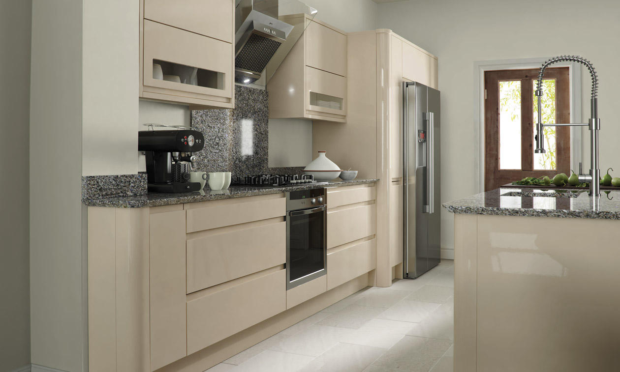 Remo Beige  Bespoke Fitted Kitchens Wigan  Kitchen Emporium