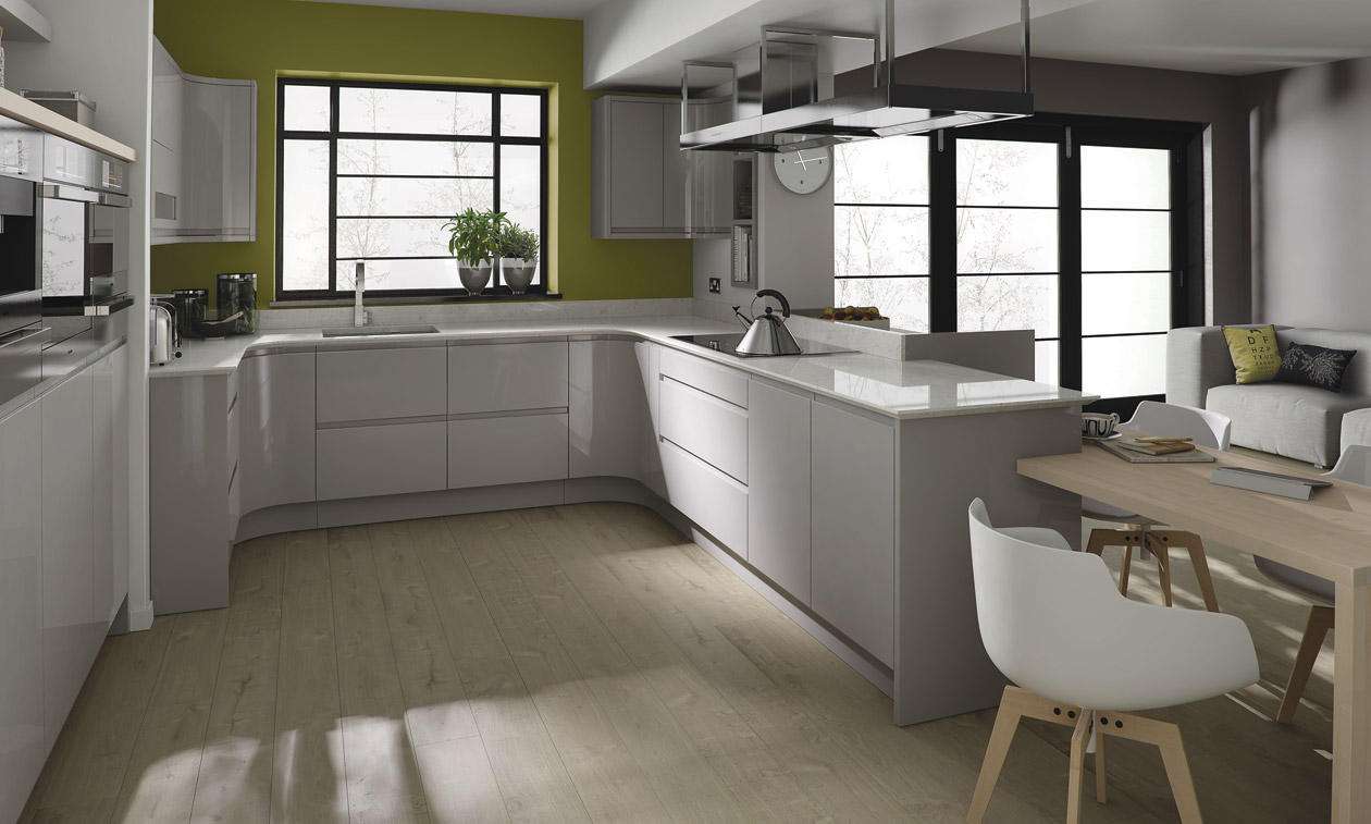 Dove Grey Gloss Kitchen