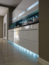 Remo White Handleless Bespoke Fitted Kitchens Wigan