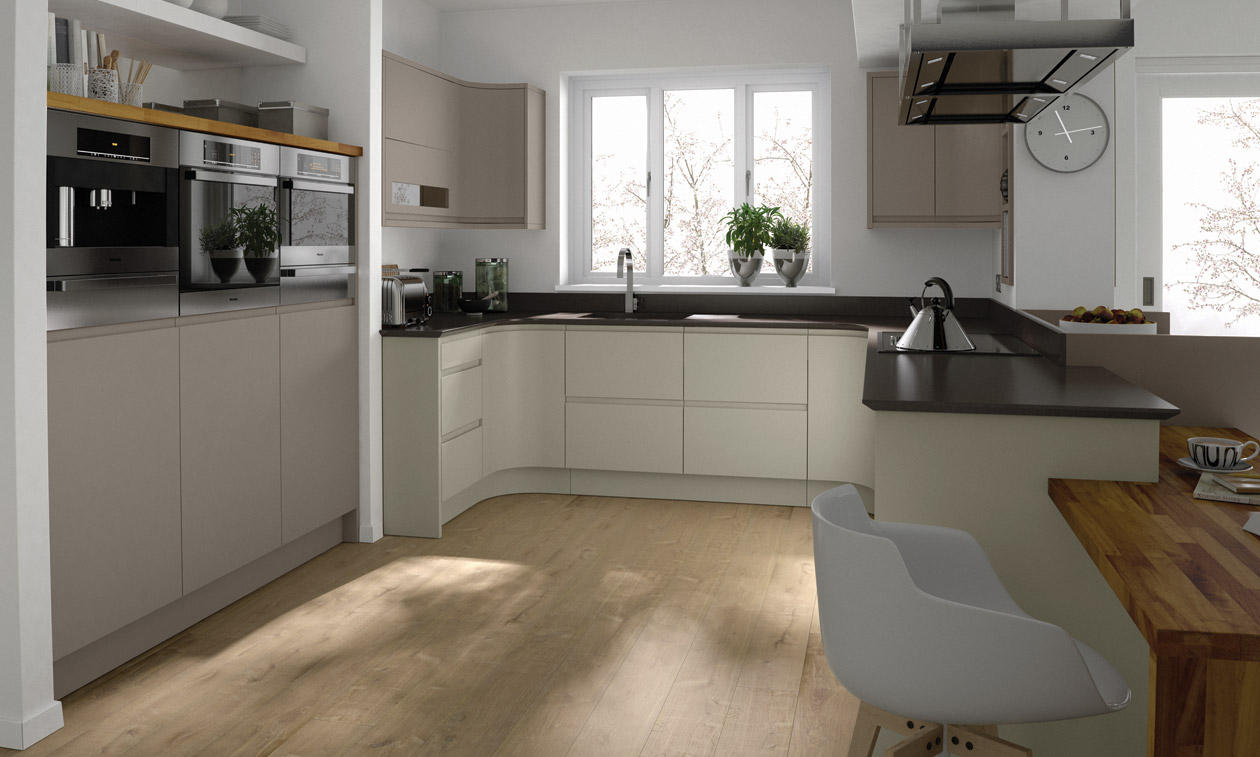 Remo Paint To Order Handleless Fitted Kitchens Wigan