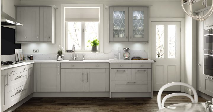 Broadoak Partridge Grey New Kitchen Range Kitchen Emporium - Grey fitted kitchens