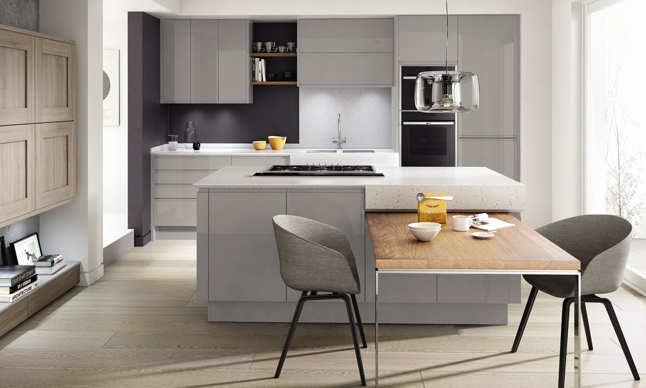 Remo Silver Grey Fitted Kitchens Manchester