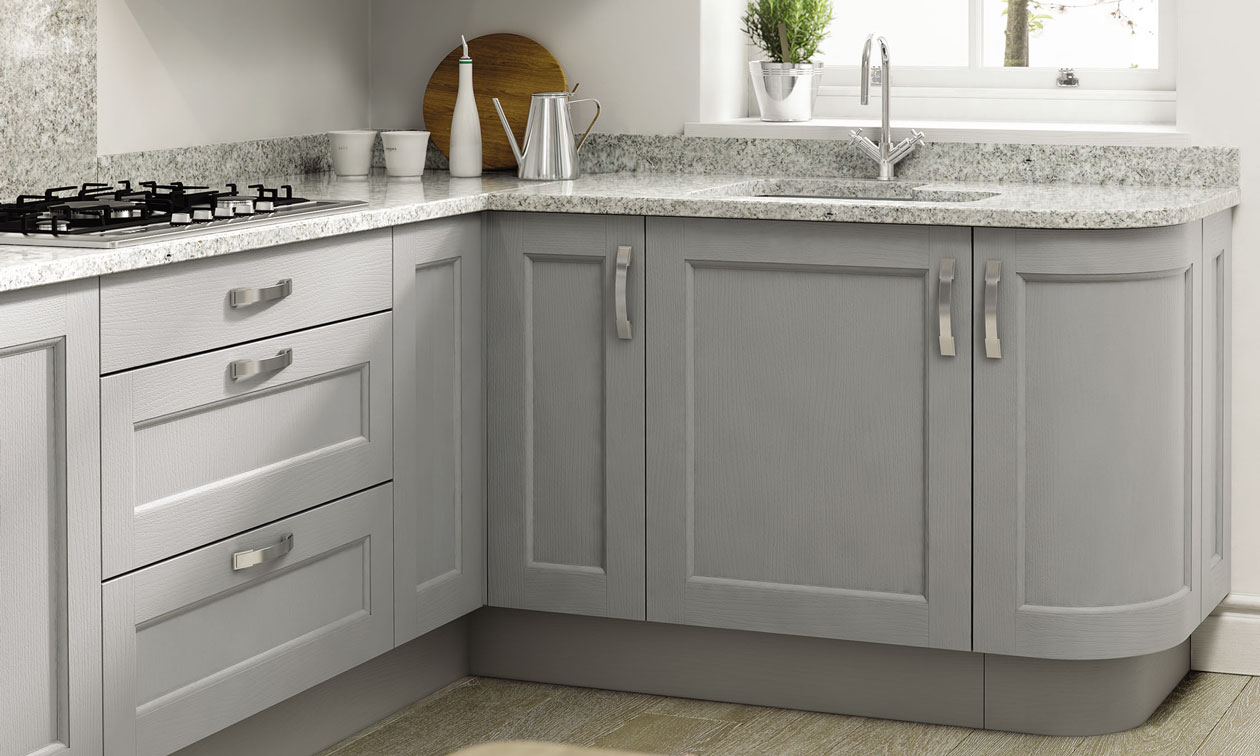 Mornington Beaded Painted Bespoke Fitted Kitchens Wigan Kitchen - Grey fitted kitchens