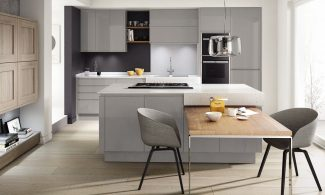 Image one of Second Nature Remo Silver Grey Fitted Kitchen