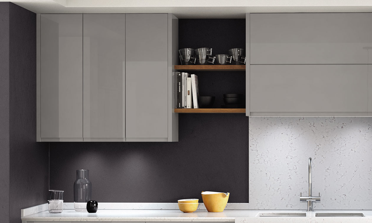 Image four of Second Nature Remo Silver Grey Fitted Kitchen