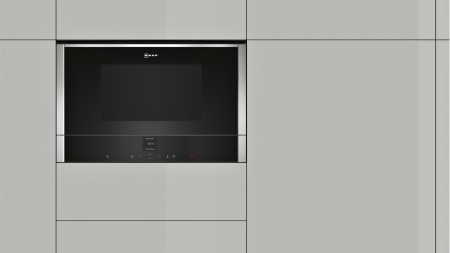Neff C17wr01n0b Compact Microwave Oven And Right Hinged