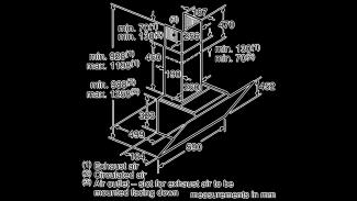 Neff D65IHM1S0B Angled Chimney Hood 7