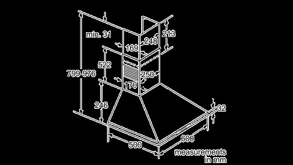 Neff D66B21N0GB Pyramid Chimney Hood 3