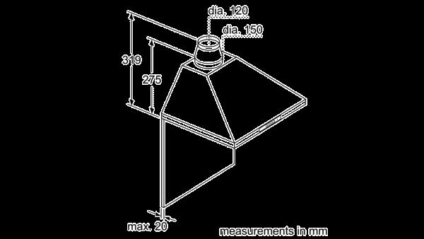 Neff D66B21N0GB Pyramid Chimney Hood 5