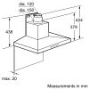 Neff D66SH52N0B Pyramid Chimney Hood 5