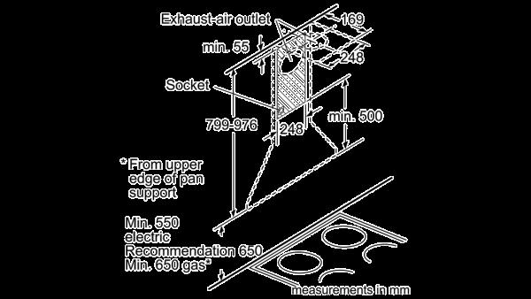 Neff D69B21N0GB Pyramid Chimney Hood 2