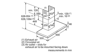 Neff D79MH52N1B Box Chimney Hood 7