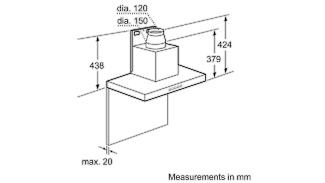 Neff D79SH52N0B Box Chimney Hood 3