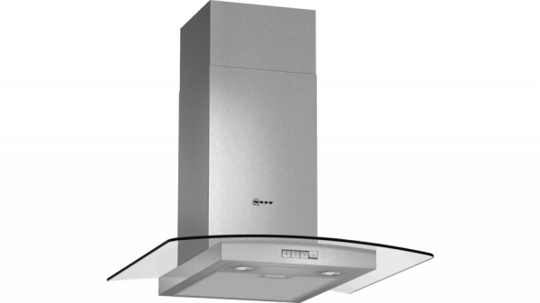 Neff D86GR22N0B Curved Glass Chimney Hood 1