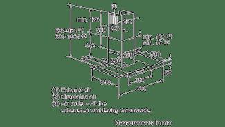 Neff D87ER22N0B Glass Chimney Hood 3