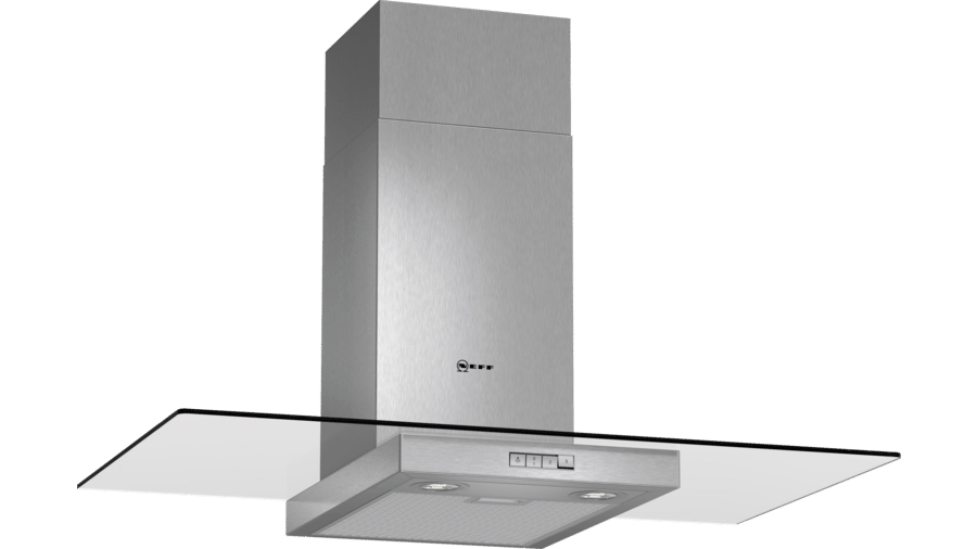Neff D89ER22N0B Glass Chimney Hood 1