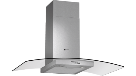 Neff D89GR22N0B Curved Glass Chimney Hood 1