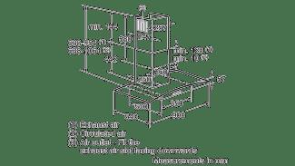 Neff D89GR22N0B Curved Glass Chimney Hood 2