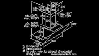 Neff D95IPU1N0B Angled Chimney Hood 11