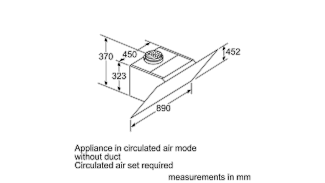 Neff D96IKW1S0B Angled Chimney Hood 10