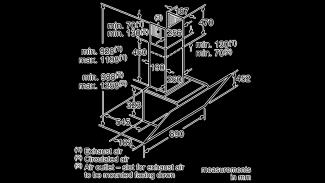 Neff D96IKW1S0B Angled Chimney Hood 11