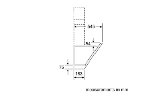 Neff D96IKW1S0B Angled Chimney Hood 6