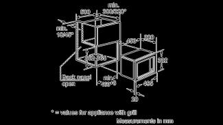 Neff H53W50S3GB Microwave Oven Black 5