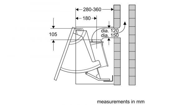 Neff D2654X1GB Telescopic Hood 3