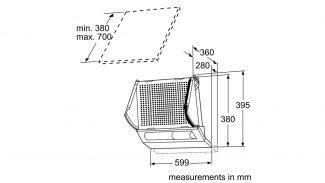 Neff D2664X0GB Telescopic Hood 4