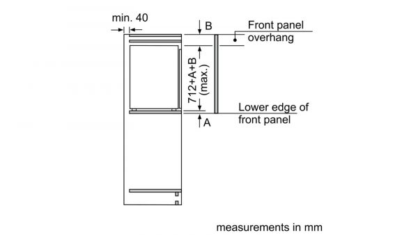 Neff GI1113F30 Built-in Single Door Freezer 2