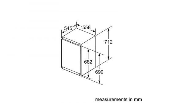 Neff GI1113F30 Built-in Single Door Freezer 5