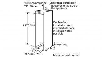 Neff K8315X0GB Built-in Single Door Fridge 2