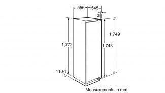 Neff K8315X0GB Built-in Single Door Fridge 3
