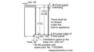 Neff K8315X0GB Built-in Single Door Fridge 4