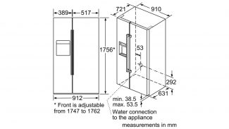 Neff KA3923I20G American Fridge Freezer 5