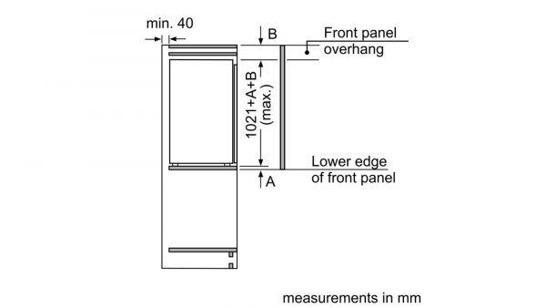 Neff KI1312F30G Built-in Single Door Fridge 3