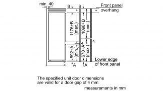 Neff KI5872S30G 70/30 Built-in Fridge Freezer 4