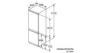 Neff KI6863F30G 60/40 Built-in Fridge Freezer 3