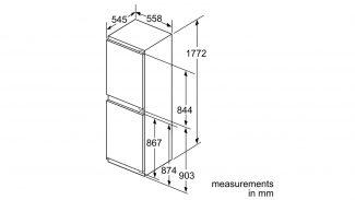 Neff KI7853D30G 50/50 Built-in Fridge Freezer 2