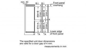Neff KI7853D30G 50/50 Built-in Fridge Freezer 4