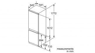 Neff KI7862F30G 60/40 Built-in Fridge Freezer 2