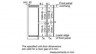 Neff KI7862F30G 60/40 Built-in Fridge Freezer 3