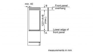 Neff KI8413D30G Built-in Single Door Fridge 3
