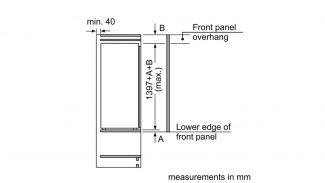 Neff KI8513D30G Built-in Single Door Freezer 4